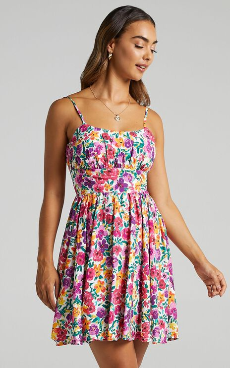 Summer Jam Dress in Packed Floral