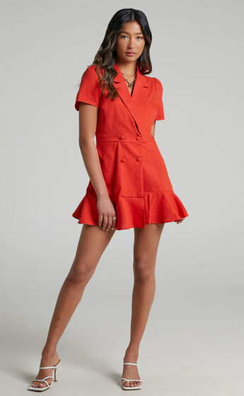 Hawker Playsuit in Oxy Fire