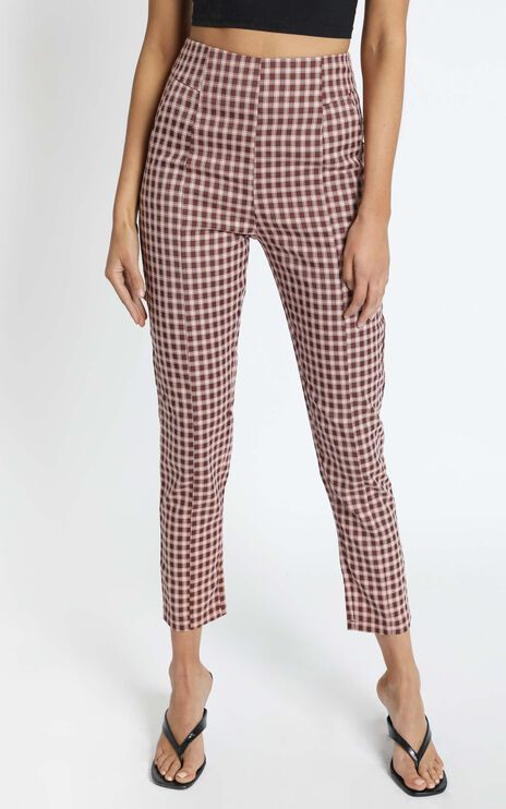 Otis Pants in Red Check