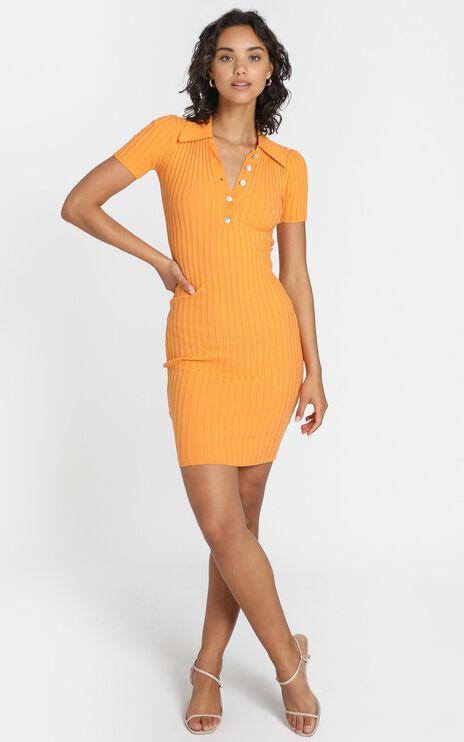 Callen Knit Dress in Mango