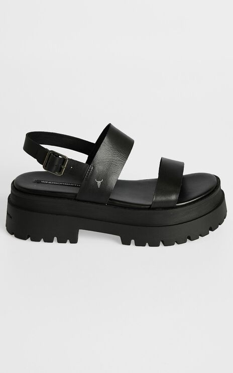 Windsor Smith - Tasty Sandals in Black Leather