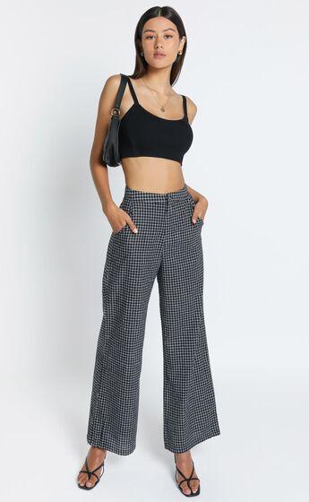 Kalina Pants in Black Check