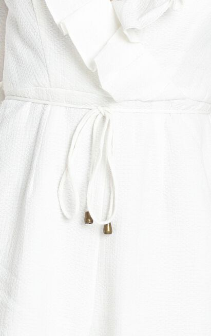 Katya V Neck Playsuit in white - 6 (XS), White, hi-res image number null