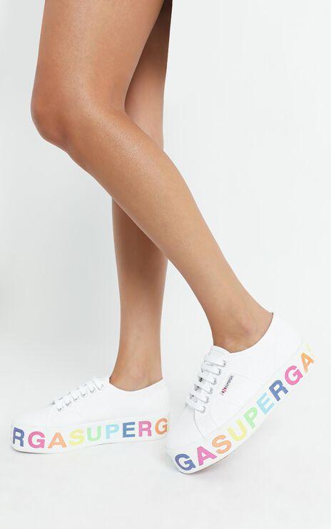 Superga - 2790 COTW Glitter Lettering in white - multicolour