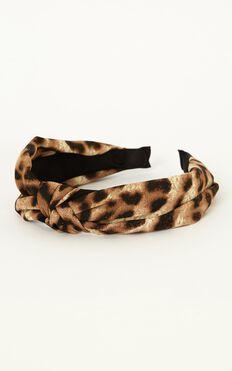 City Lights Headband In Leopard Print