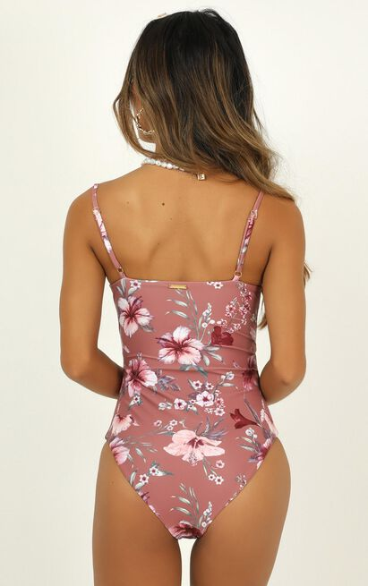 Eliana one piece in rose floral - 18 (XXXL), Blush, hi-res image number null