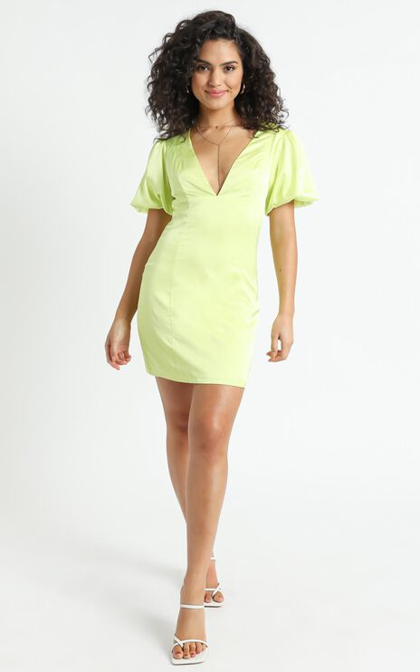 Palmeira Dress in Lime Green