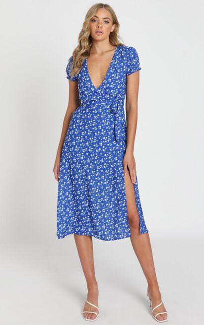 Sudden Life Dress in cobalt floral - 20 (XXXXL), Blue, hi-res image number null