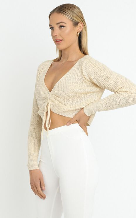Anamarie Knit Top in Beige