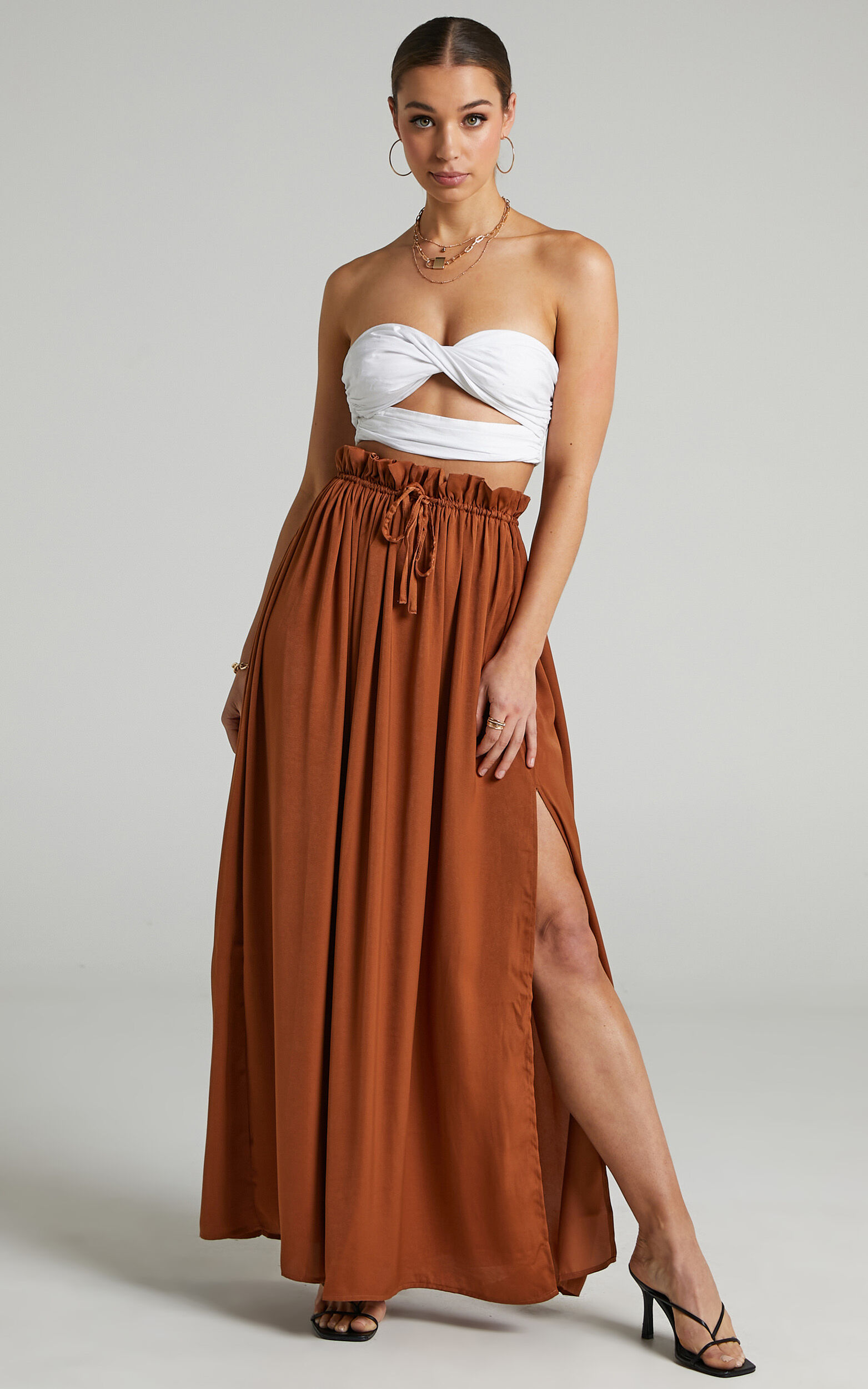 Jakie Maxi Pleated Skirt in Rust - 06, BRN1, super-hi-res image number null