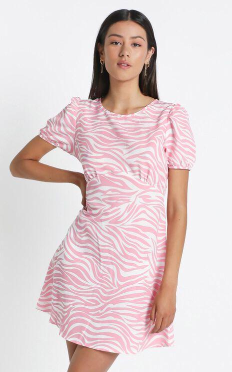 Mazie Dress in Pink Zebra
