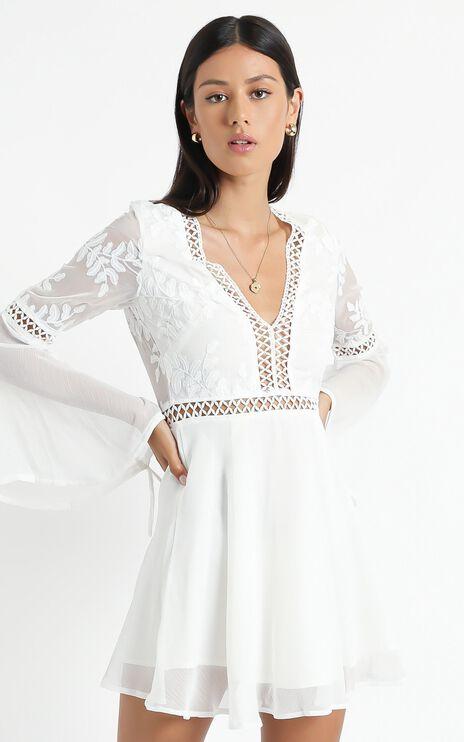 Stop Pretending Dress In White