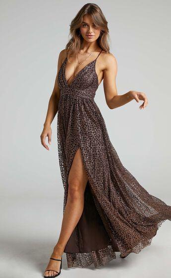 Lady Godiva Dress in Bronze Glitter Tulle