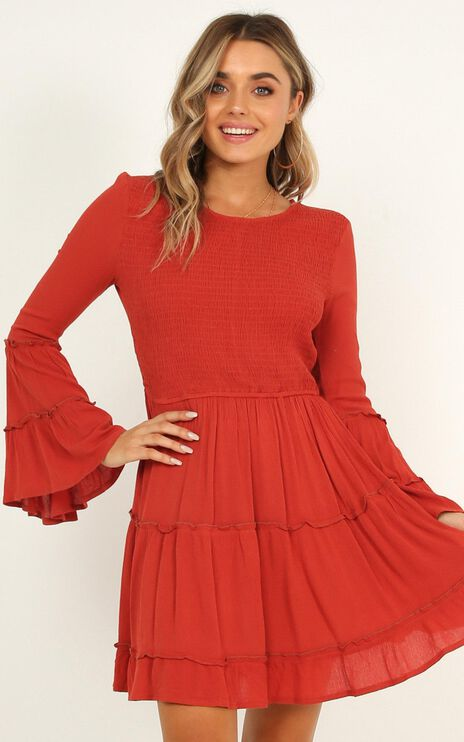 Ask Me Later Dress In Rust