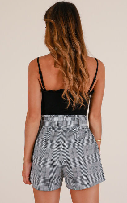 Common Sense shorts in grey check - 12 (L), Grey, hi-res image number null