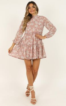 Have Trust Dress In Blush Floral