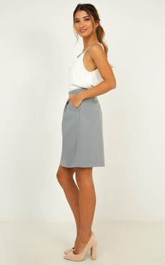 Crunch Time Skirt In Blue