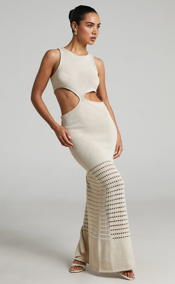 4th & Reckless - Giuliana Knit Dress in Nude