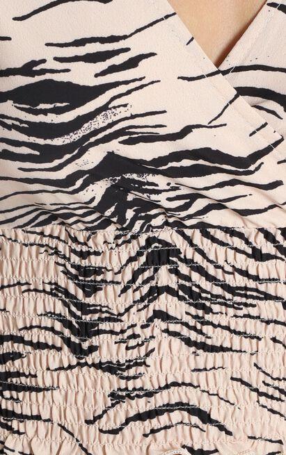 Never Met Before Top in beige zebra - 12 (L), Beige, hi-res image number null