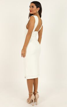 Dont Catch Feelings Dress In White