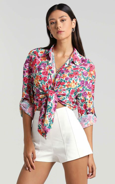 Morning Call Shirt in Packed Floral