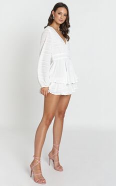 Hamilton Playsuit In White