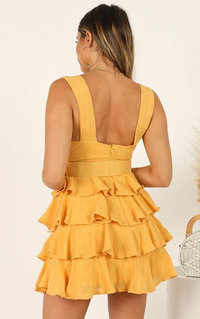 Right My Wrong dress in mustard - 14 (XL), Mustard, hi-res image number null