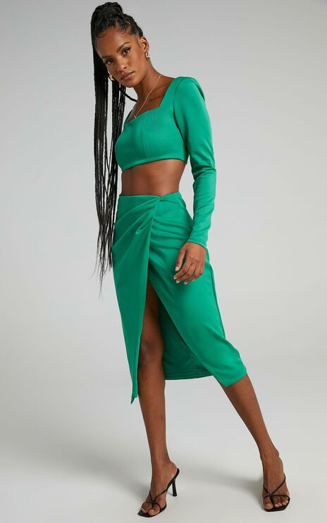 Farida Two Piece Set in Jade
