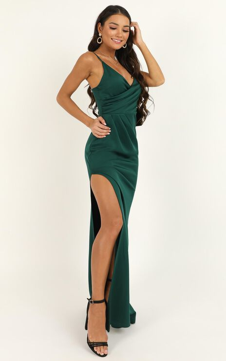 Linking Love Maxi Dress In Emerald