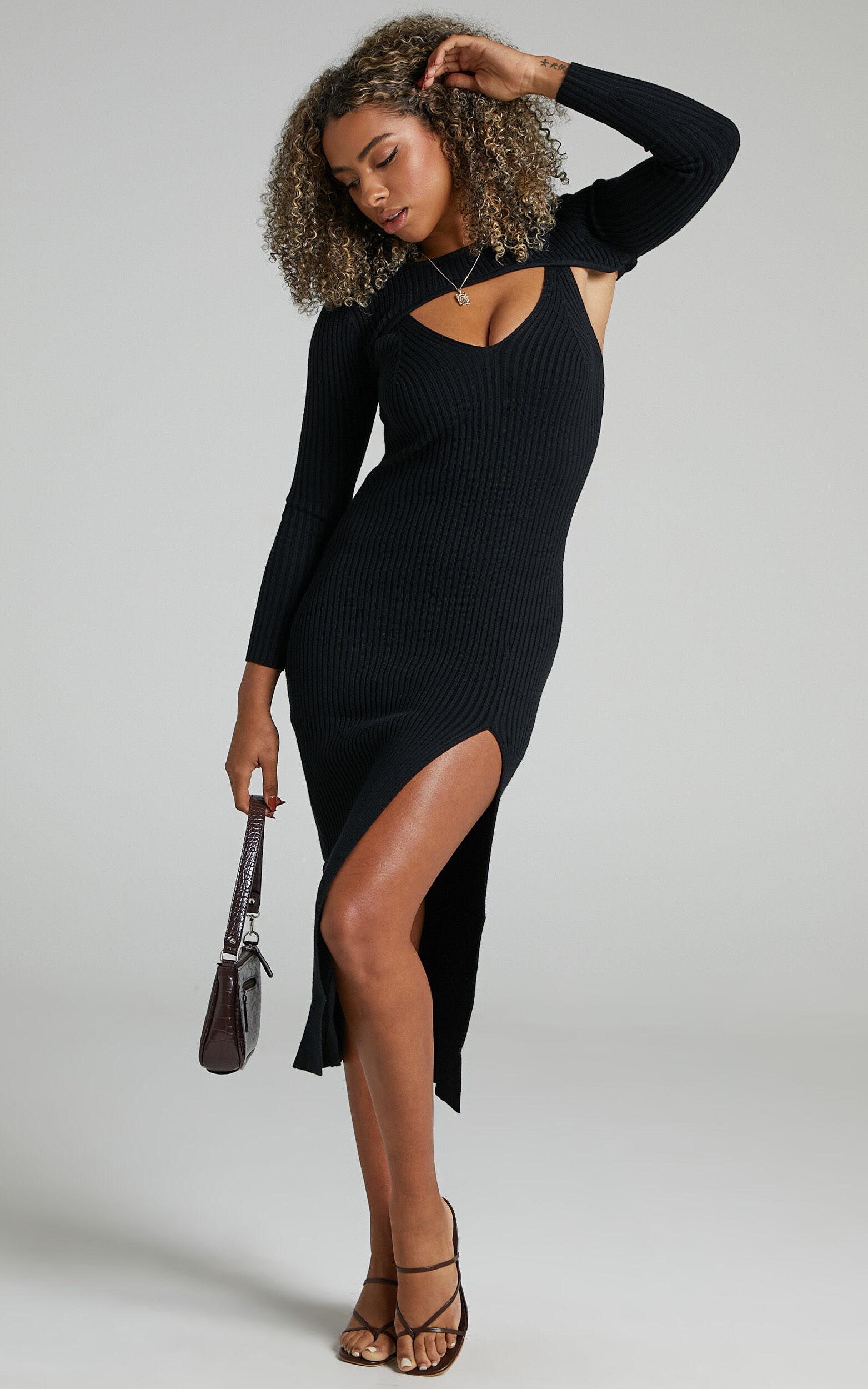 Codie Knit Dress in Black - 06, BLK1, super-hi-res image number null