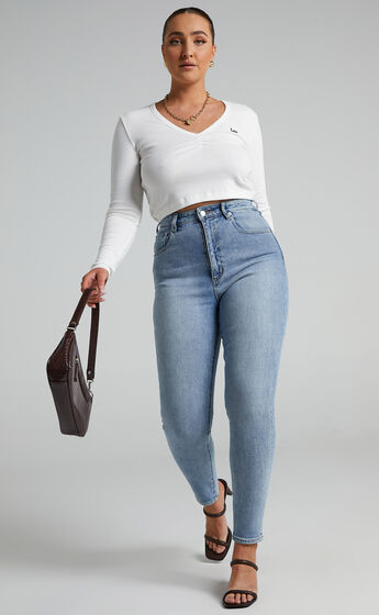 Lee - High Licks Cropped Jeans in Spirit