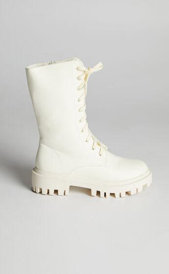 Public Desire - Beau Boots in Ecru