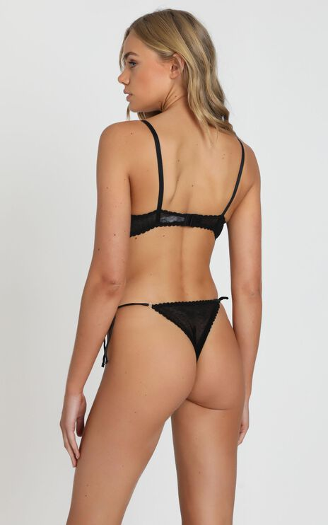 Kat The Label - Dahlia Lace Brief in Black