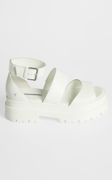 Windsor Smith - Thrilled Sandals in White Leather