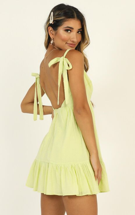 Rich Visions Dress In Textured Citrus Spot