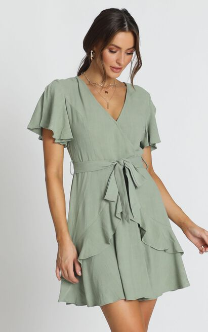 Treat You Right Dress in green - 14 (XL), Green, hi-res image number null