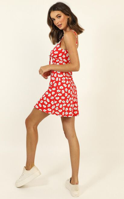 Beyond Happy dress in red floral - 12 (L), Red, hi-res image number null
