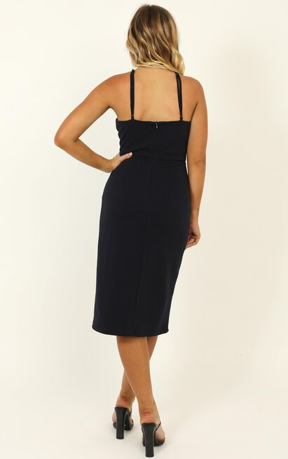 Missed The Point Dress in navy - 20 (XXXXL), Navy, hi-res image number null