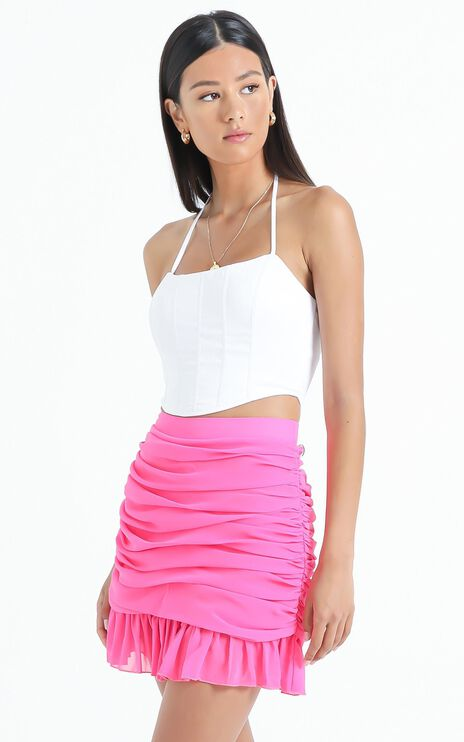 Manon Skirt in Hot Pink