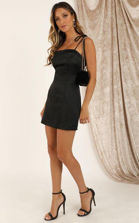 I Feel Pretty Dress In Black Satin