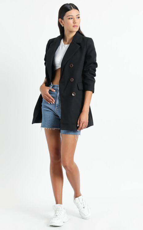 Confidence Is Key Blazer Coat in Black