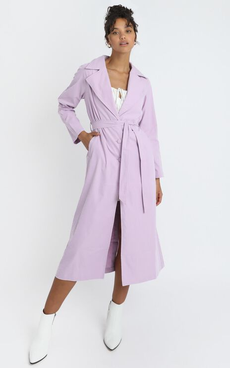 Cecile Trench Coat in Lilac
