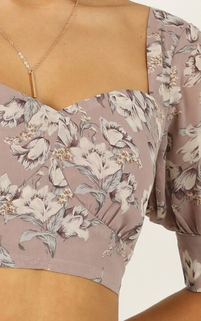 Greatness Two Piece Set In mauve floral - 20 (XXXXL), Mauve, hi-res image number null