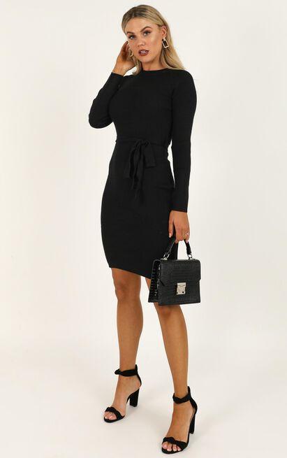 Tread Lightly Knit Dress In Black - 20 (XXXXL), Black, hi-res image number null