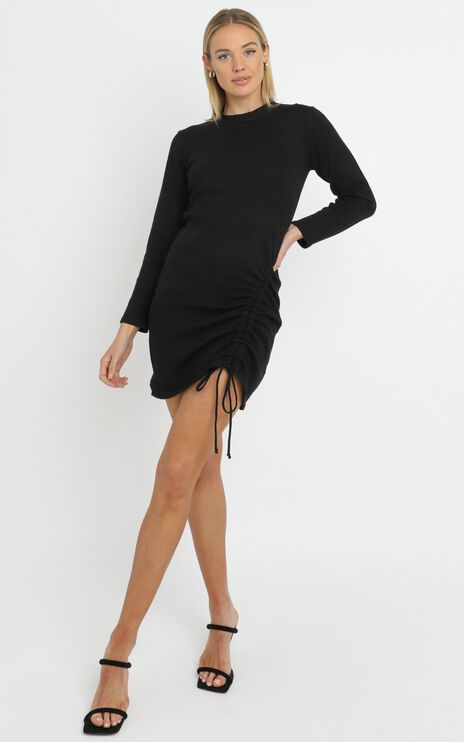 Casual Luxe Knit Dress in Black