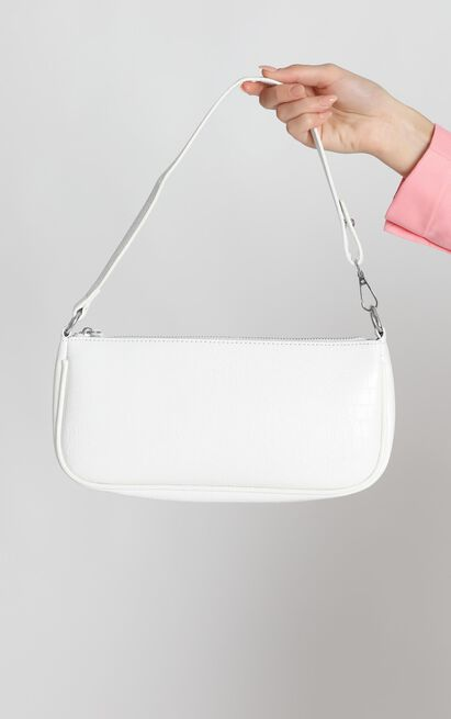 Save My Love Bag In White Croc, White, hi-res image number null