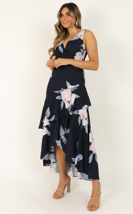 Big Investment Dress In Navy Floral