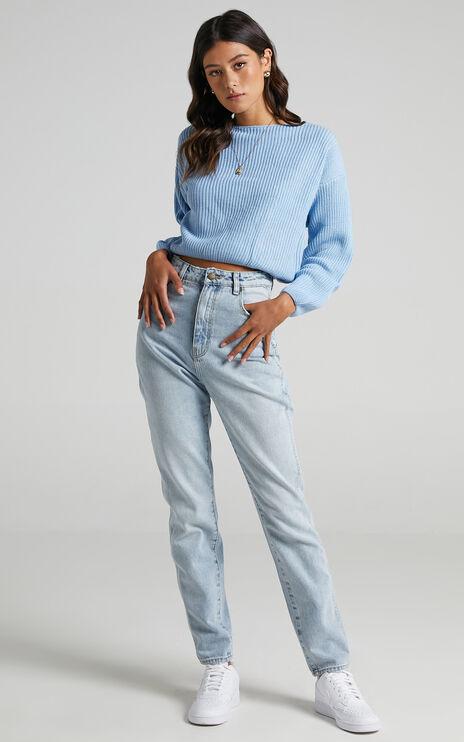 Eavan Knit Jumper in Pastel Blue