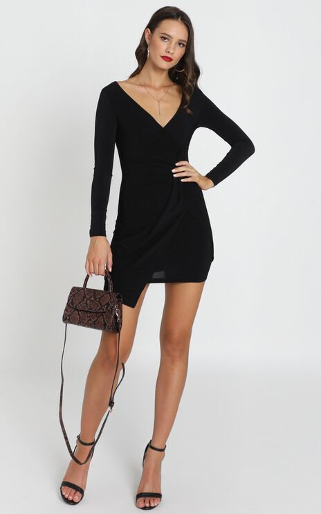 Elle Bodycon Mini Dress In Black