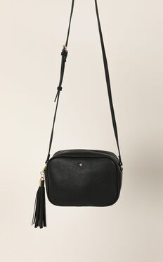 Peta and Jain - Gracie Shoulder Bag In Black Pebble